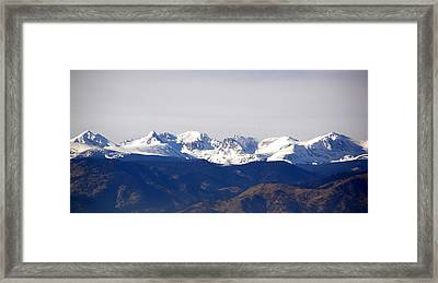 Snow Covered Indian Peaks Framed Print