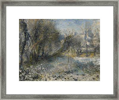 Snow Covered Landscape Framed Print
