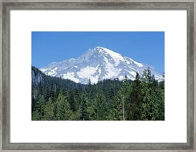 Snow Covered Mount Rainier National Framed Print