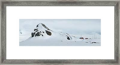 Snow Covered Mountain, Argentine Camara Framed Print