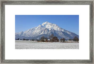 Snow Covered Mountain Framed Print