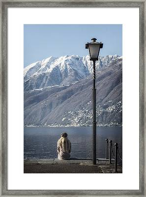 Snow Covered Mountains Framed Print by Joana Kruse