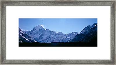 Snow Covered Mountains, Mt. Tutoko Framed Print by Panoramic Images