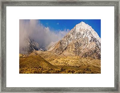 Snow Covered Peak Framed Print