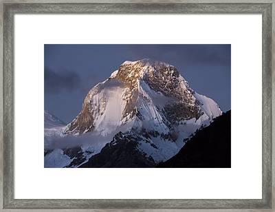 Snow-covered Peaks Huscaran Mountain Framed Print by Cyril Ruoso