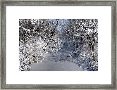 Snow Covered River Framed Print by Thomas Fouch