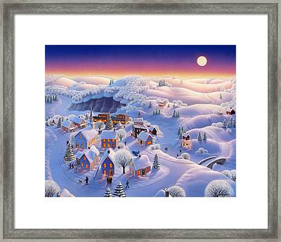 Snow Covered Village Framed Print
