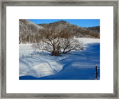Snow Creek Framed Print