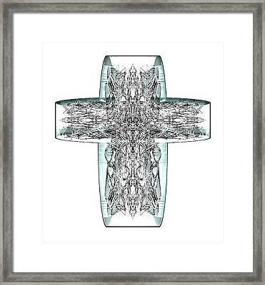 Snow Cross 7  Framed Print
