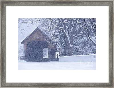 Framed Print featuring the photograph Snow Day by Alan L Graham