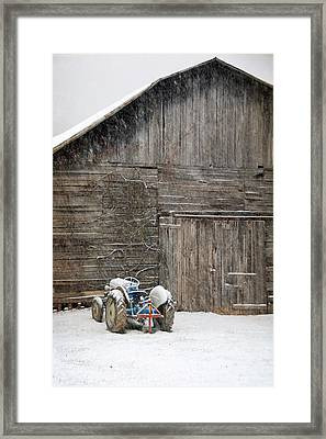 Snow Day Framed Print by Cecile Brion