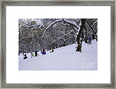 Snow Day In The Park Framed Print by Madeline Ellis