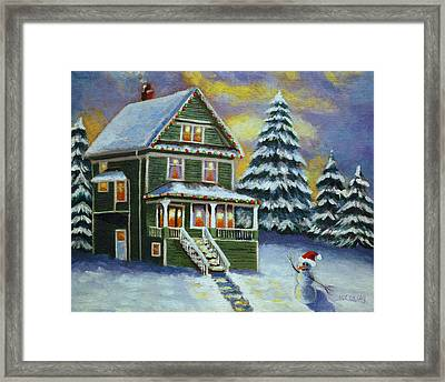 Snow Day Framed Print by Melanie Cossey