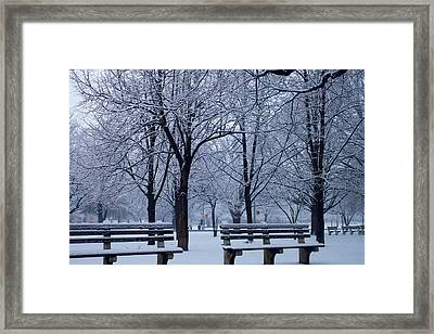 Snow Day Framed Print by Richie Stewart