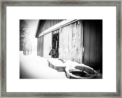 Snow Day Framed Print by Sue OConnor