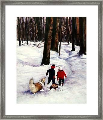Snow Days Framed Print by Jeanne  McNally