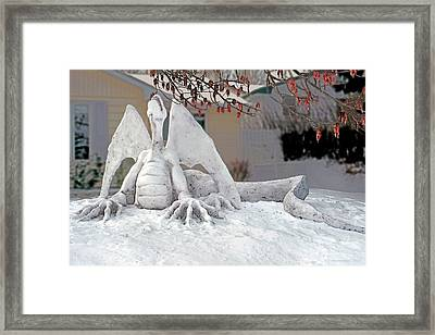 Snow Dragon 3 Framed Print by Terry Reynoldson