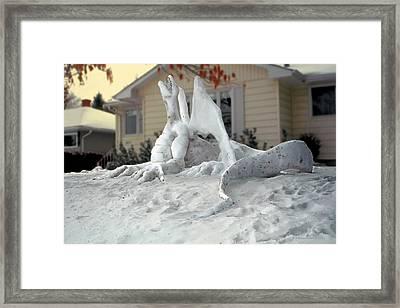 Snow Dragon 4 Framed Print