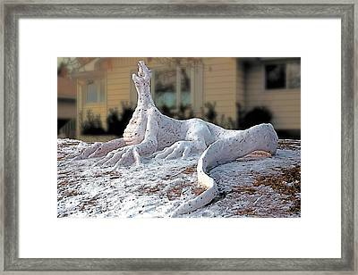 Snow Dragon Framed Print by Terry Reynoldson