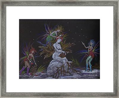 Snow Dryad Framed Print