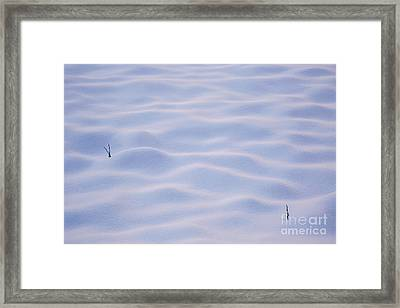 Snow Dunes In Yosemite California Framed Print by Julia Hiebaum