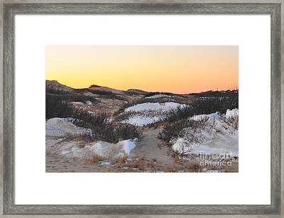 Snow Dunes Sunset  Framed Print by Catherine Reusch Daley