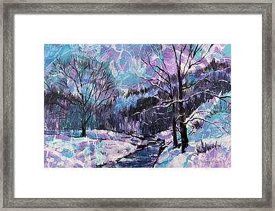 Snow Effect Framed Print by Bonnie Mason