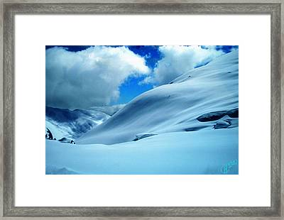 Snow Face In The  Mountain Framed Print by Colette V Hera  Guggenheim