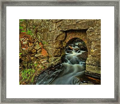 Snow Falls Gorge Framed Print by Chris Babcock