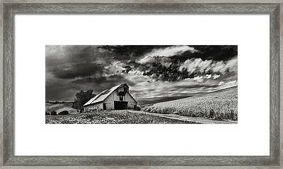 a used Barn Framed Print