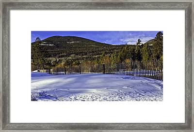 Snow Fence Fall River Road Framed Print by Tom Wilbert