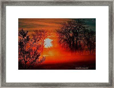 Snow Fire 2 Framed Print by Rebecca Adams