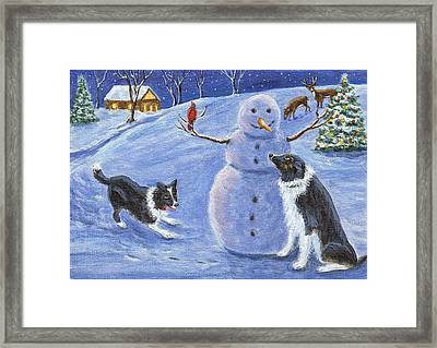 Snow Friends Framed Print