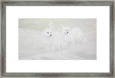 Snow Ghosts Of The North Framed Print by Johanna Lerwick
