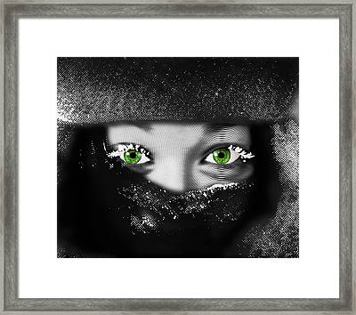 Snow Girl Horizontal Framed Print by Tony Rubino