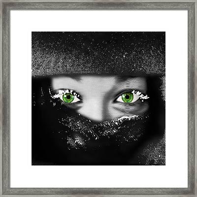 Snow Girl Square Framed Print