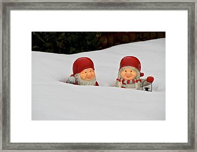 Snow Gnomes Framed Print by Odd Jeppesen