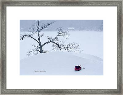 Snow Hill Ride Framed Print by Ann Murphy