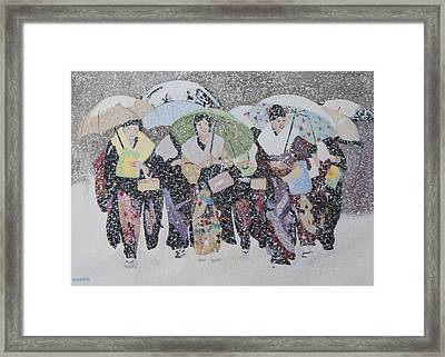 Snow Holiday Framed Print