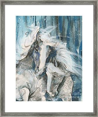 Snow Horses2 Framed Print by Mary Armstrong