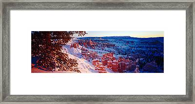 Snow In Bryce Canyon National Park Framed Print by Panoramic Images
