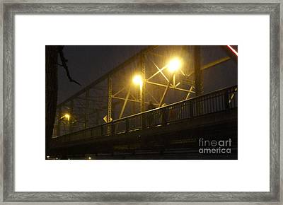 Snow In Lambertville Framed Print