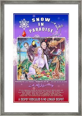 Snow In Paradise Framed Print by Larry Kaiser