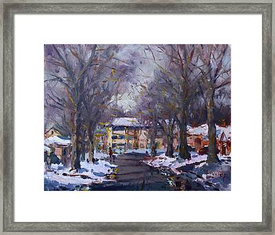 Snow In Silverado Dr Framed Print by Ylli Haruni