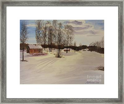 Snow In Solbrinken Framed Print