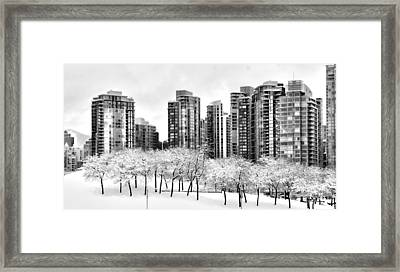 Snow In The City Framed Print
