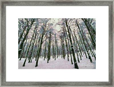 Snow In The Forest Framed Print by George Atsametakis