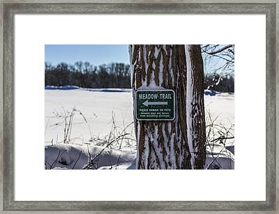 Snow In The Meadow Framed Print