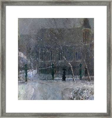 Snow In The Park Framed Print by Malcolm Mason