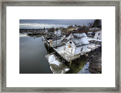 Snow In The South End Framed Print by Eric Gendron